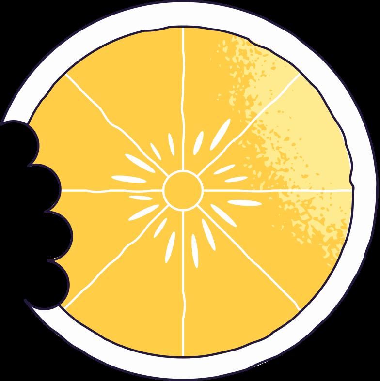 bitten lemon Clipart illustration in PNG, SVG
