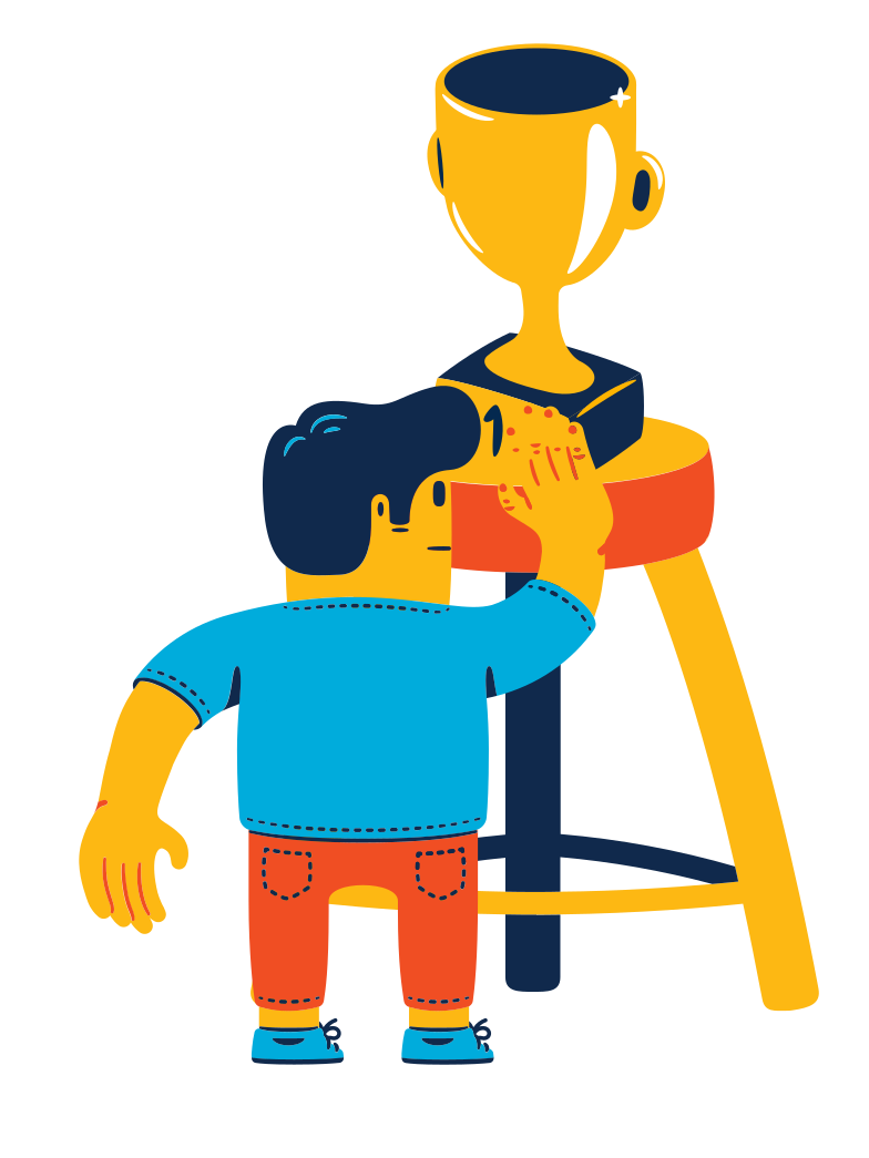 First place prize Clipart illustration in PNG, SVG
