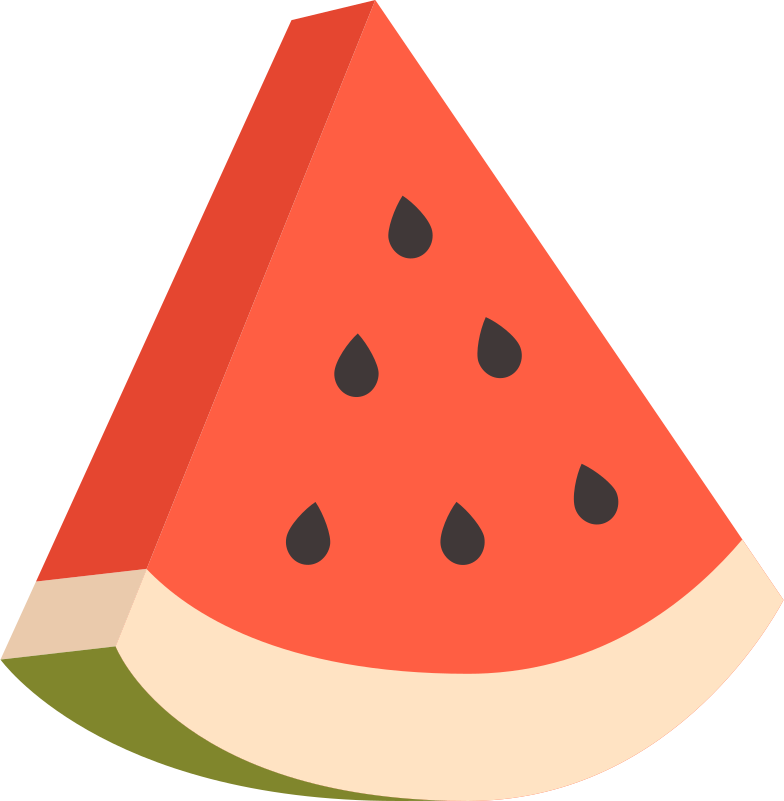 watermelon slice Clipart illustration in PNG, SVG