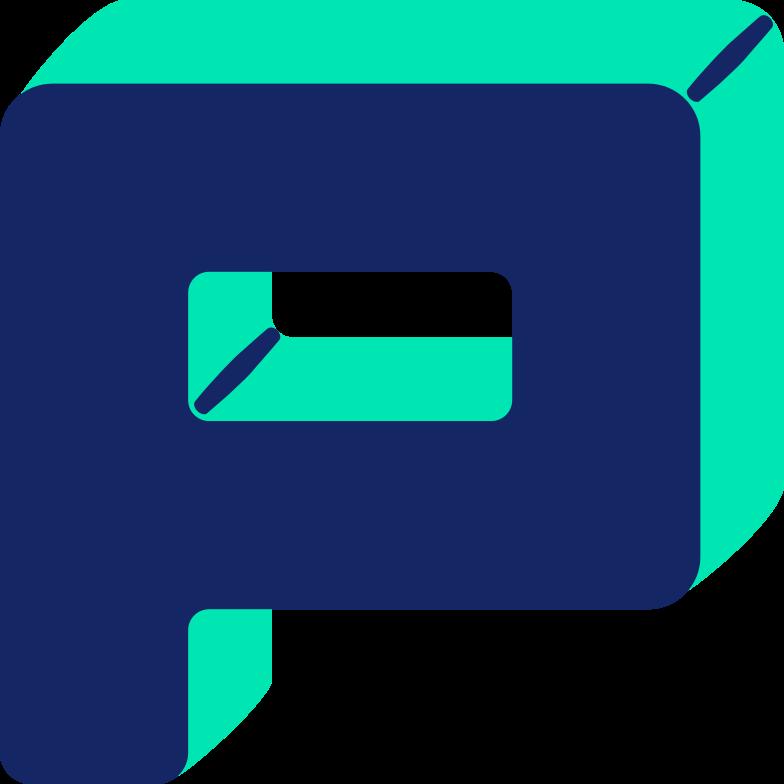 letter p Clipart illustration in PNG, SVG