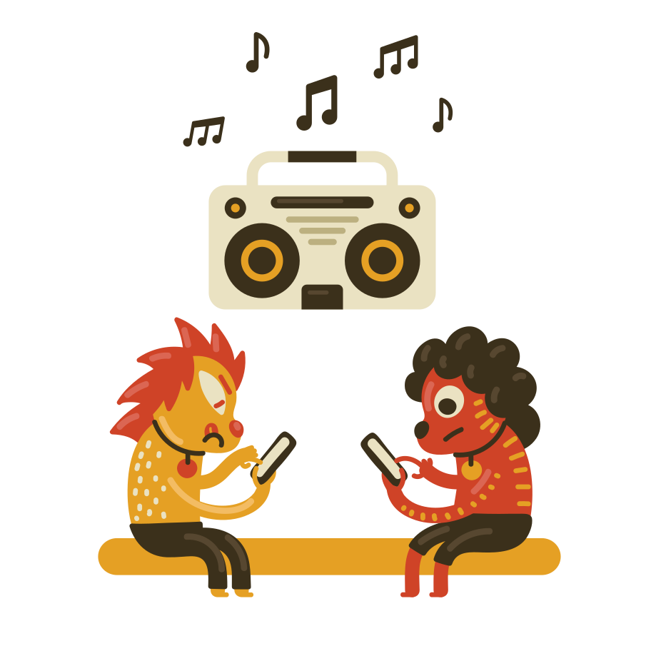 Chatting Clipart illustration in PNG, SVG