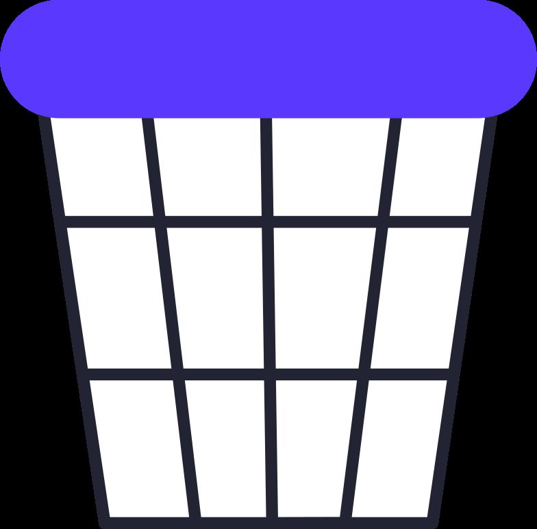 freelance  trash can Clipart illustration in PNG, SVG