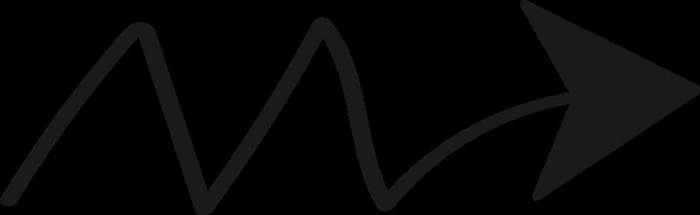 tk arrow zigzag black Clipart illustration in PNG, SVG