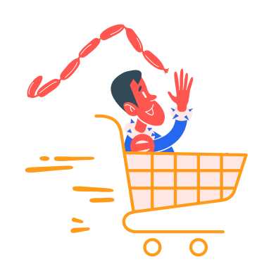 style 食料品の買い物 images in PNG and SVG | Icons8 Illustrations