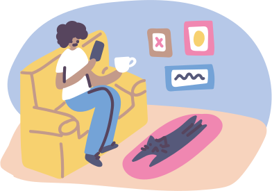 style kaffeepause mit smartphone images in PNG and SVG | Icons8 Illustrations