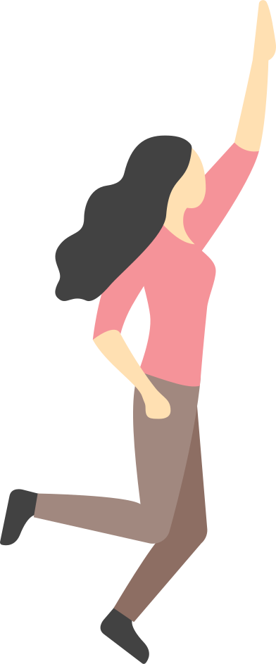 style happy jumping woman images in PNG and SVG | Icons8 Illustrations