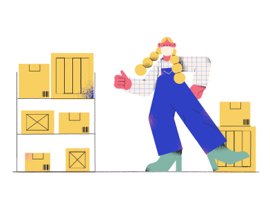 style Warehouse worker images in PNG and SVG | Icons8 Illustrations