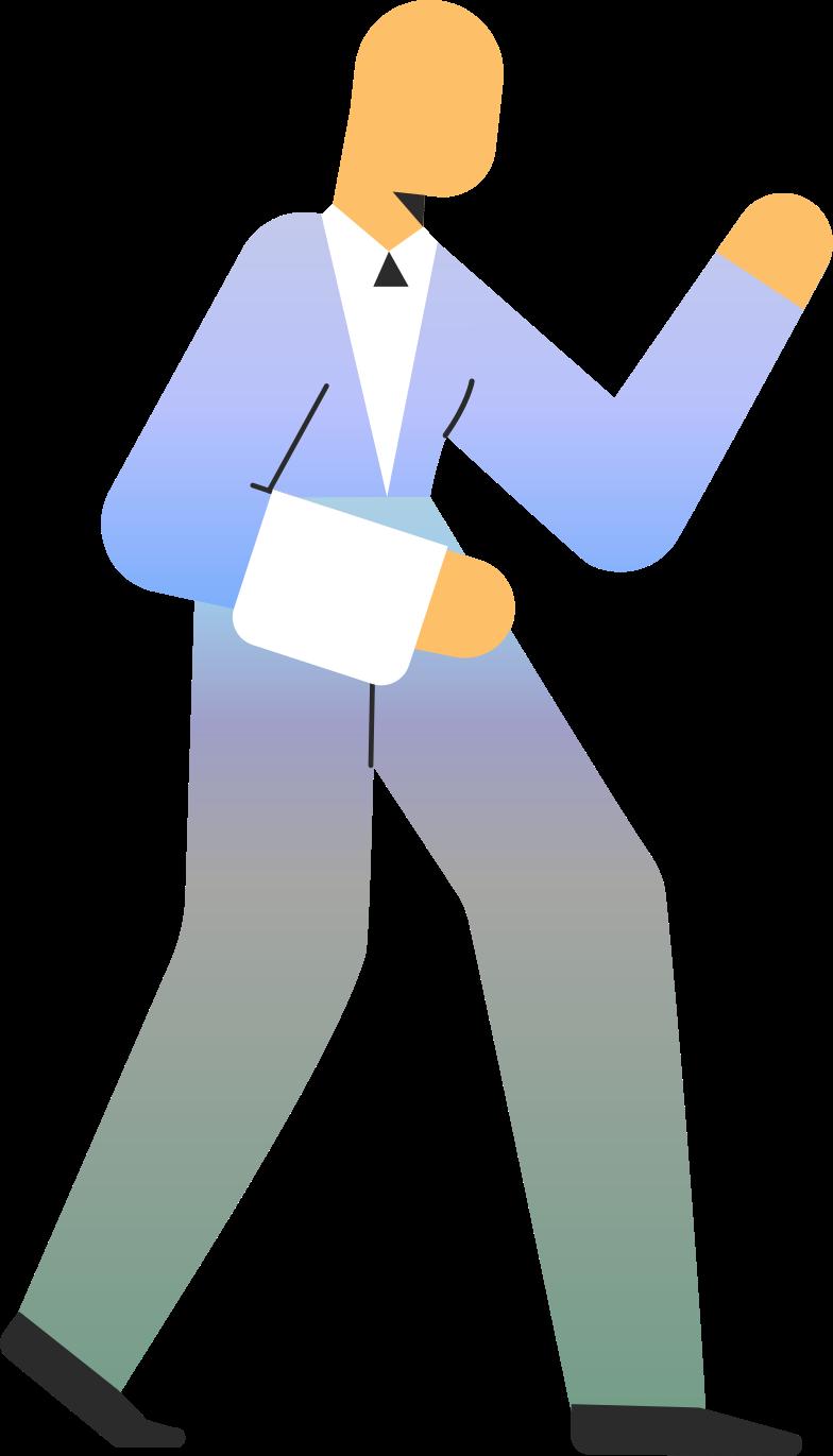 waiter Clipart illustration in PNG, SVG