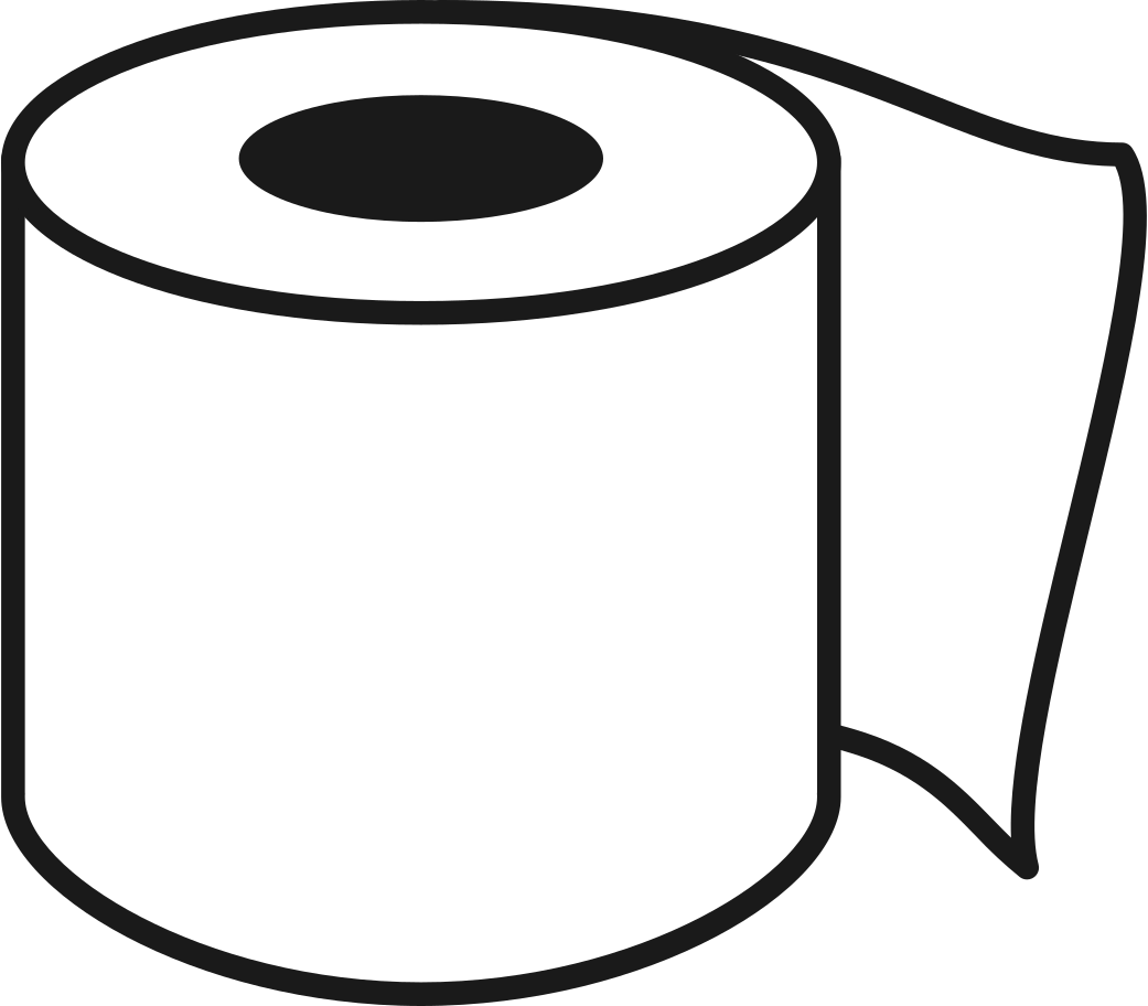 toilet paper roll Clipart illustration in PNG, SVG