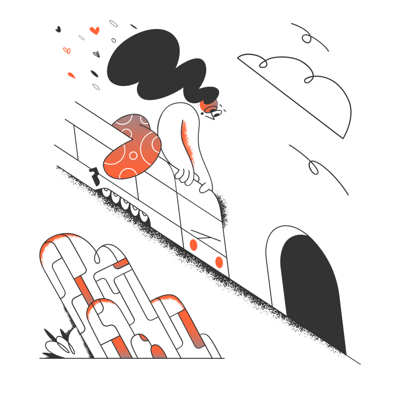 Travelling by train Clipart illustration in PNG, SVG