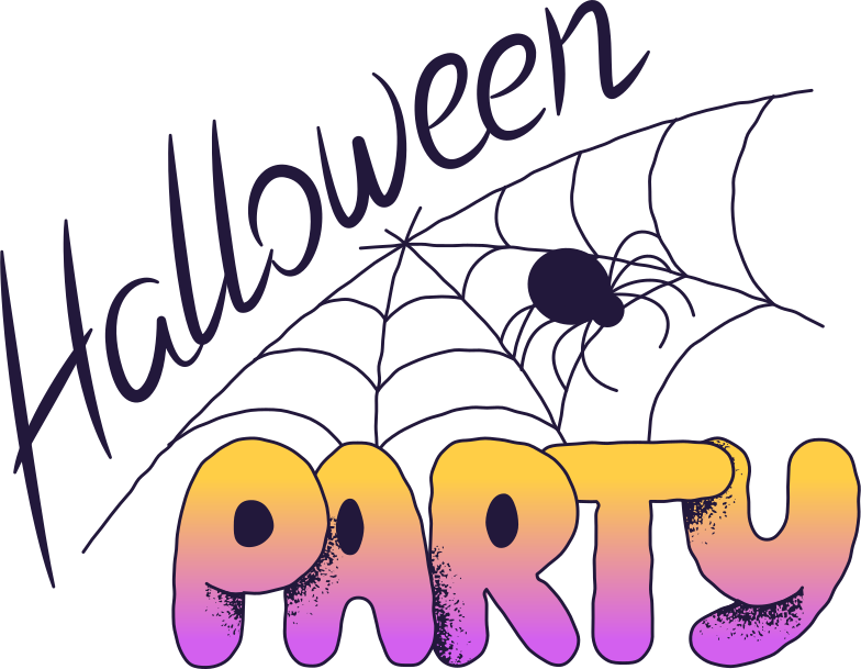 halloween party with spider Clipart illustration in PNG, SVG