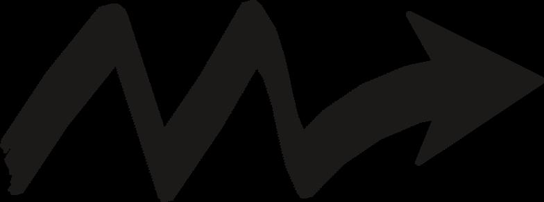 black arrow zigzag Clipart illustration in PNG, SVG