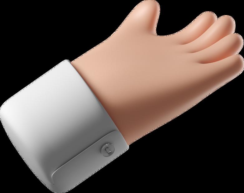 Ilustración de clipart de la mano da en PNG, SVG