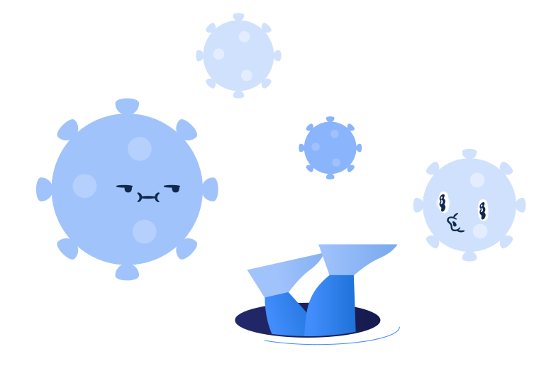 style Hiding from the viruses Vector images in PNG and SVG | Icons8 Illustrations