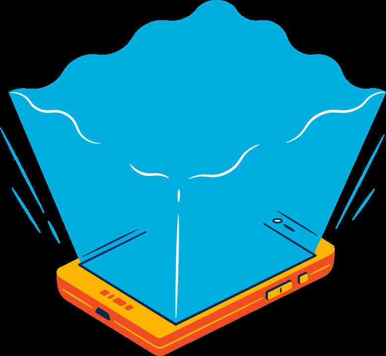 Illustration clipart portail smartphone aux formats PNG, SVG