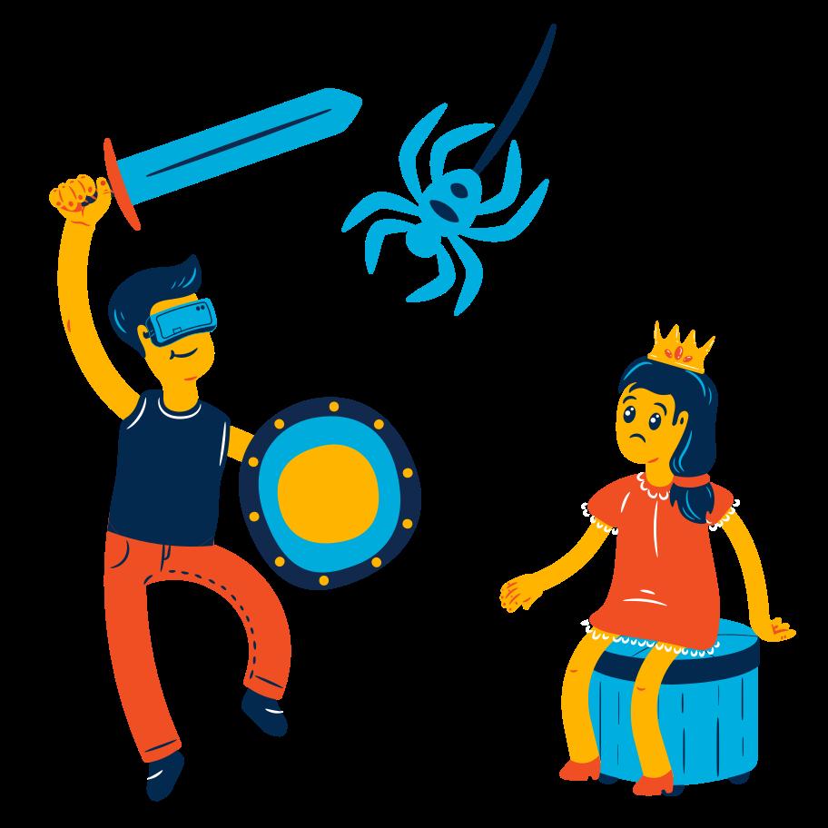 VR hero Clipart illustration in PNG, SVG
