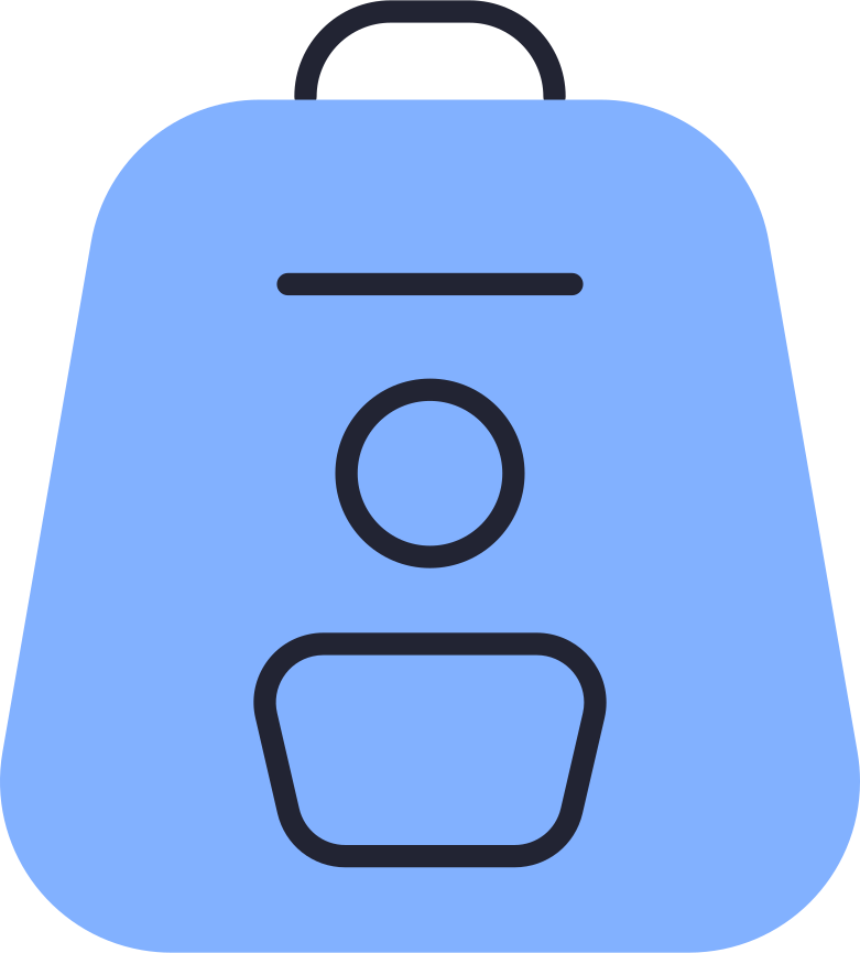backpack color Clipart illustration in PNG, SVG