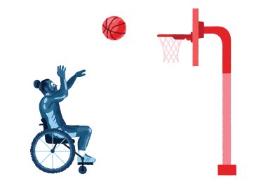style Paralympic basketball images in PNG and SVG | Icons8 Illustrations