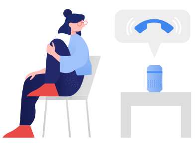style Smart speaker- incoming call images in PNG and SVG | Icons8 Illustrations