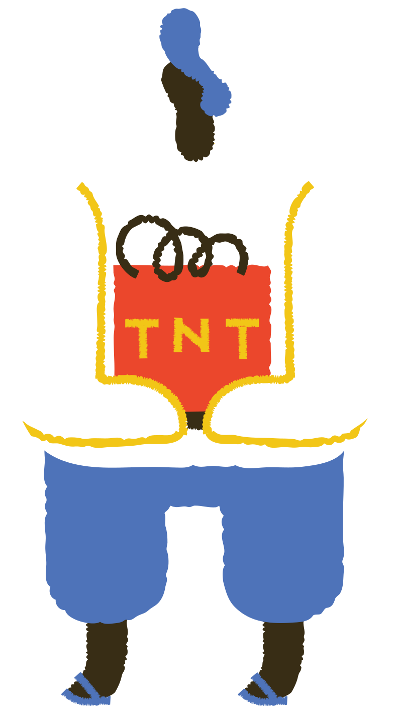 man with tnt Clipart illustration in PNG, SVG