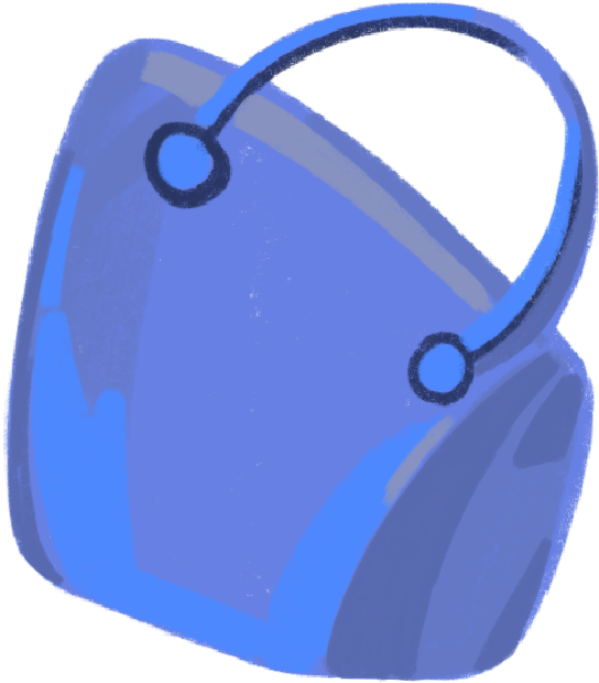 style bag blue Vector images in PNG and SVG | Icons8 Illustrations