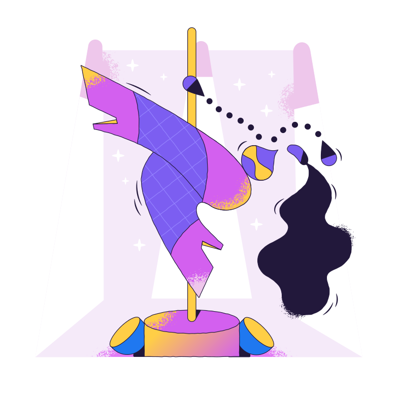 style Pole dancer Vector images in PNG and SVG | Icons8 Illustrations