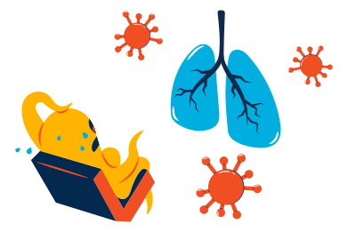 style Virus attack lungs images in PNG and SVG | Icons8 Illustrations