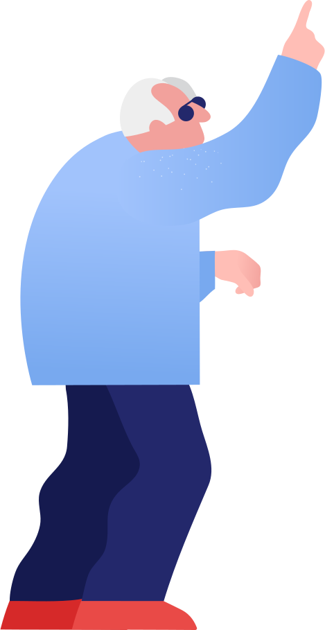 grandpa showing Clipart illustration in PNG, SVG