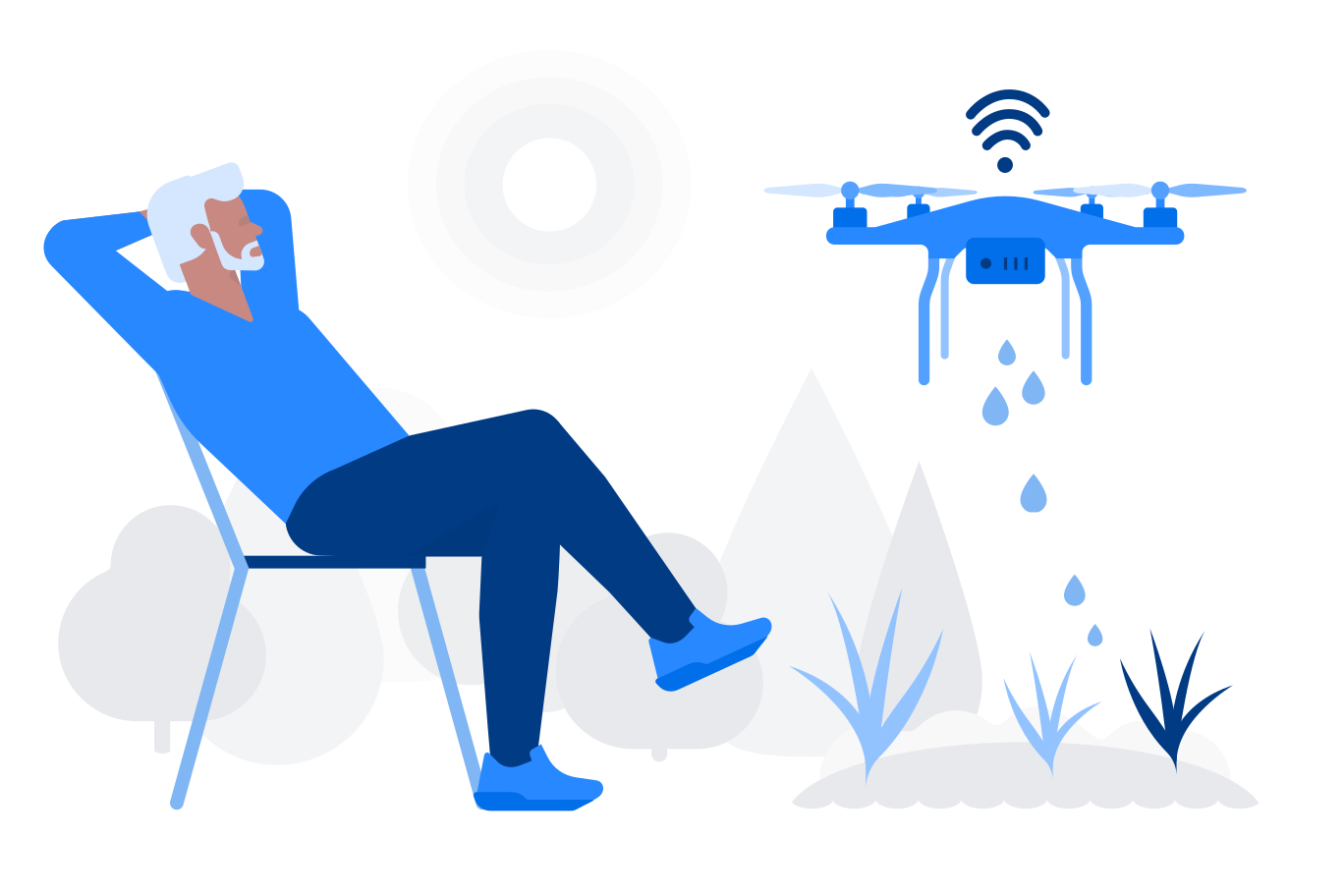 style Watering drone images in PNG and SVG   Icons8 Illustrations