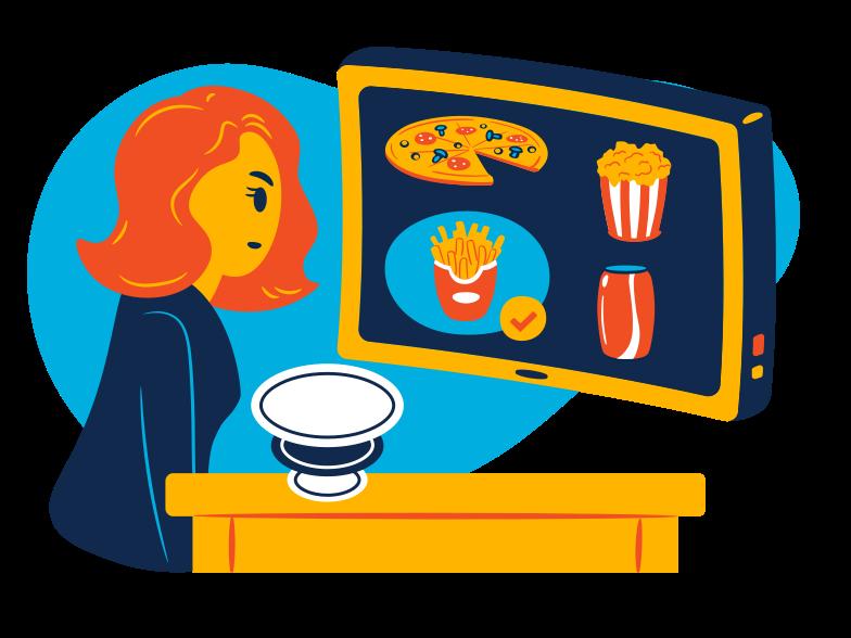 Online food ordering Clipart illustration in PNG, SVG