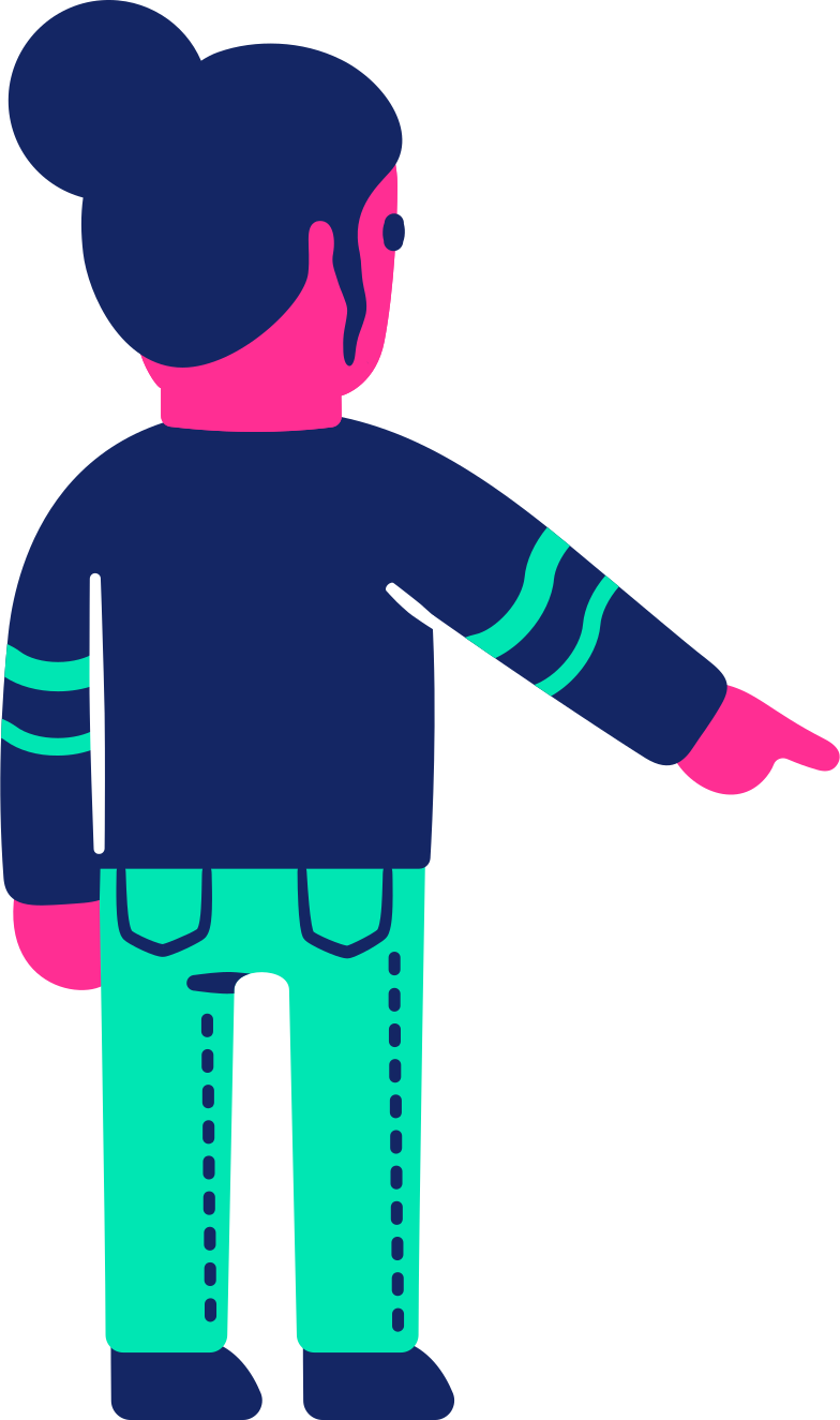 man back pointing down Clipart illustration in PNG, SVG