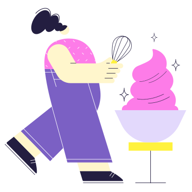 style Cooking the cake! images in PNG and SVG | Icons8 Illustrations