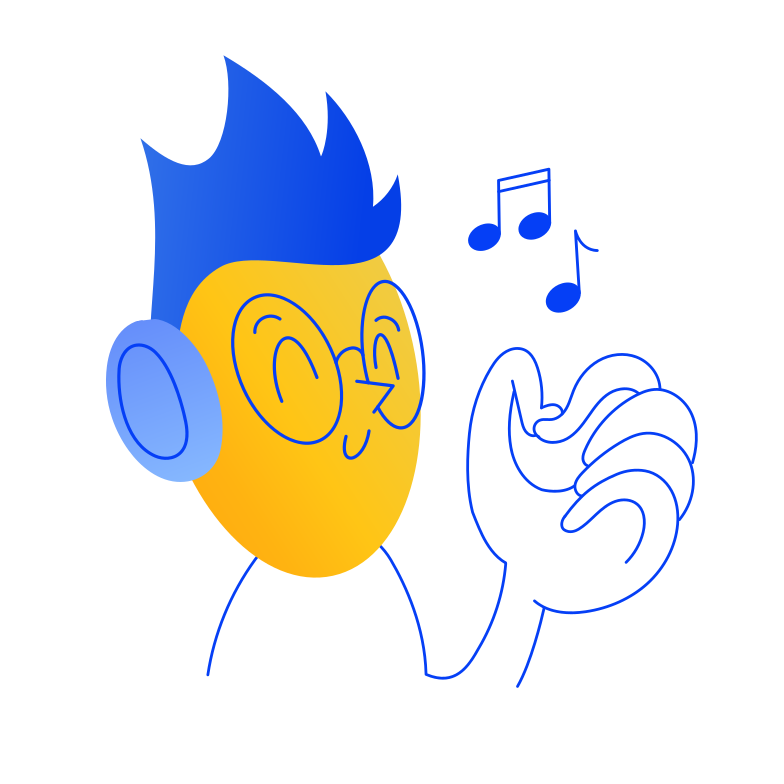 style Listening music Vector images in PNG and SVG | Icons8 Illustrations