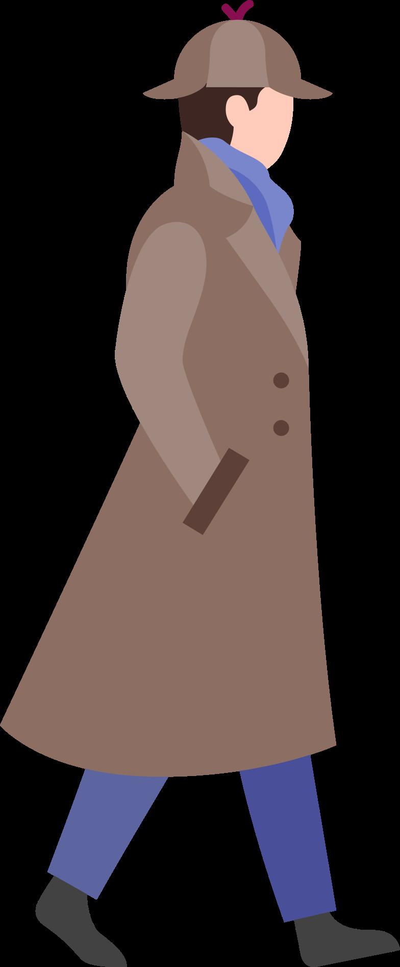 Ilustración de clipart de sherlock holmes en PNG, SVG