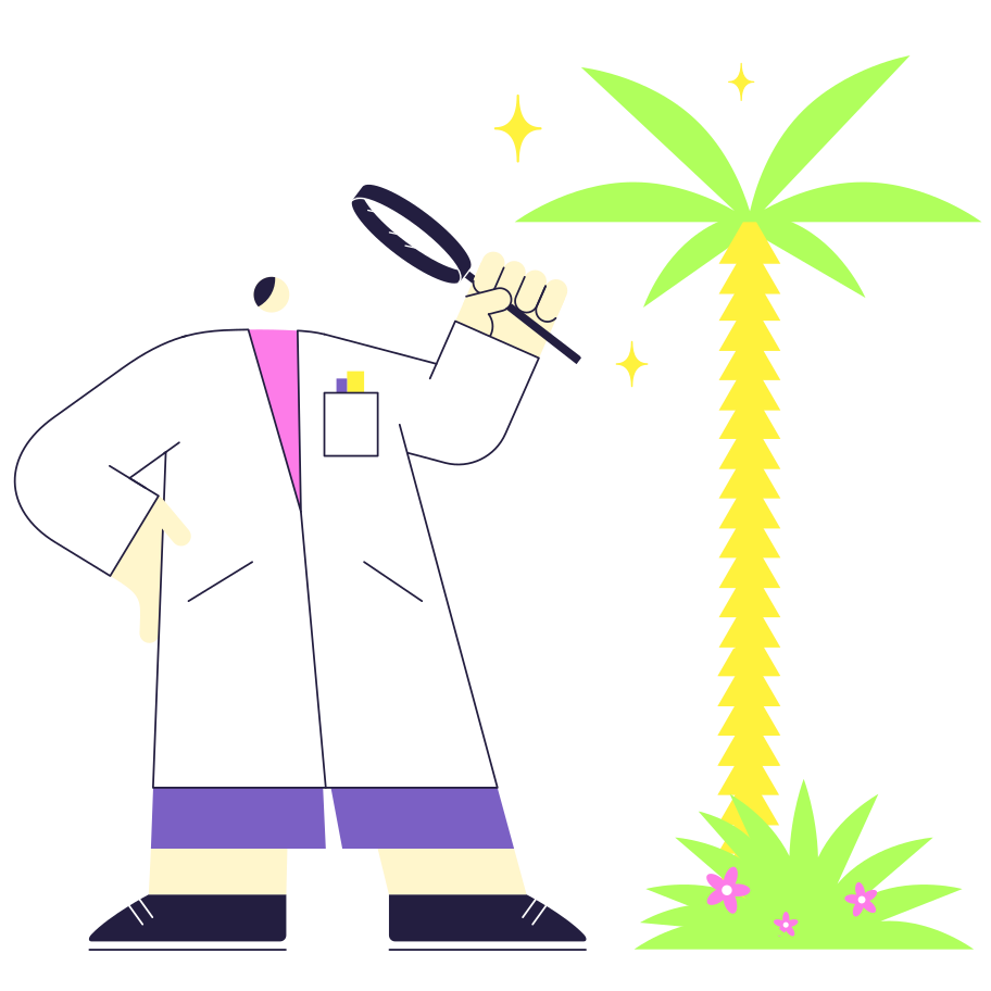 The study of plants Clipart illustration in PNG, SVG