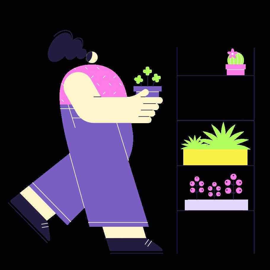 Vertical garden Clipart illustration in PNG, SVG