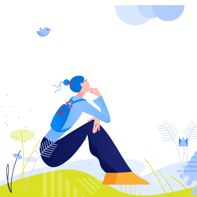 style Woman resting on nature images in PNG and SVG | Icons8 Illustrations