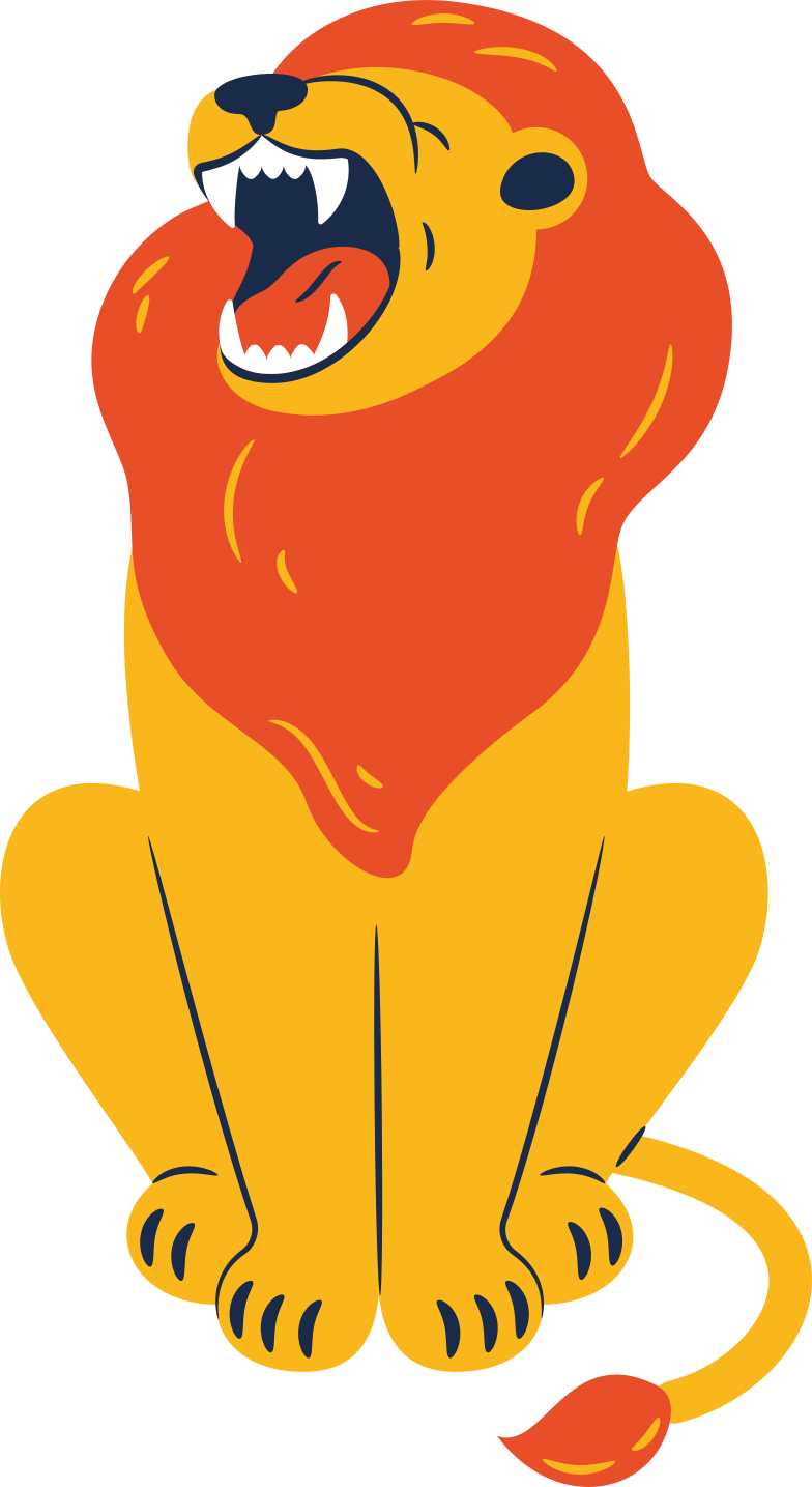 lion sitting Clipart illustration in PNG, SVG