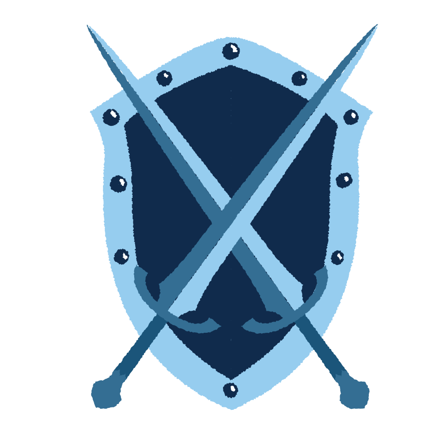 Sword and shield Clipart illustration in PNG, SVG