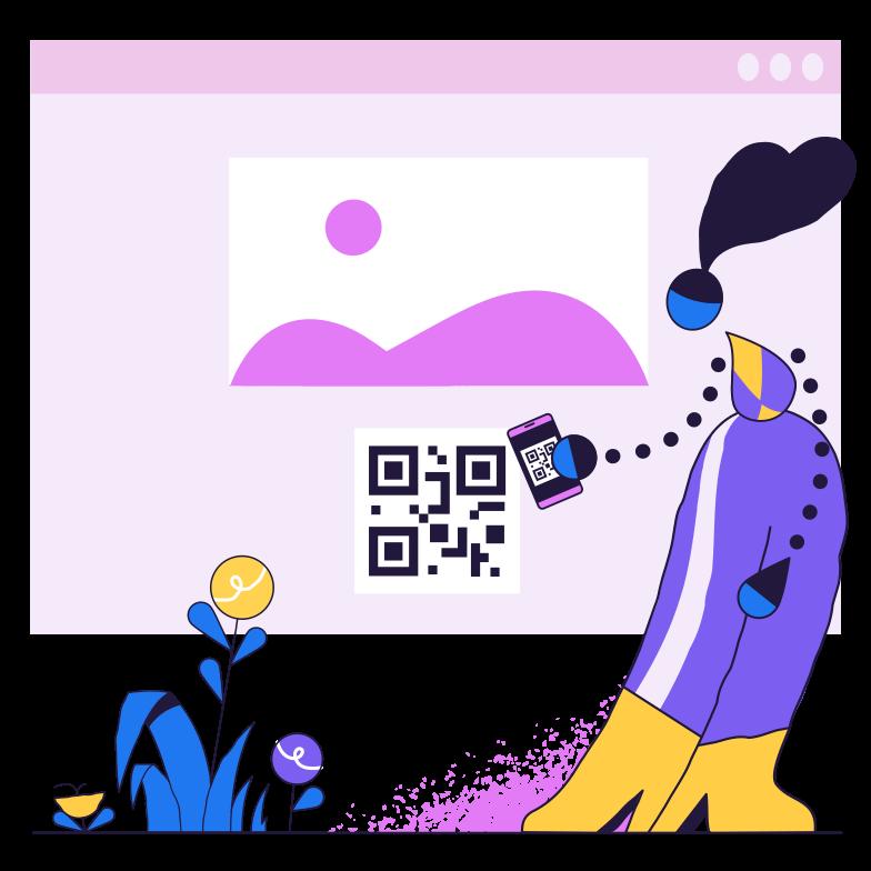 QR code scan Clipart illustration in PNG, SVG
