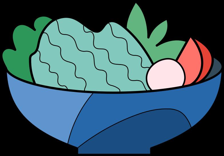 vegetable salad Clipart illustration in PNG, SVG