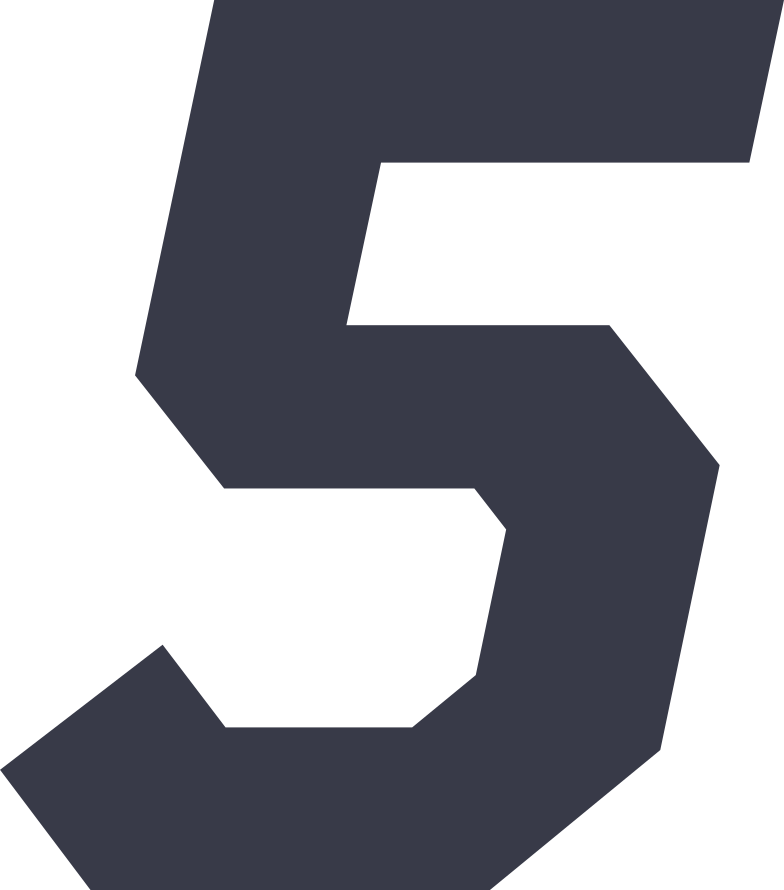five Clipart illustration in PNG, SVG