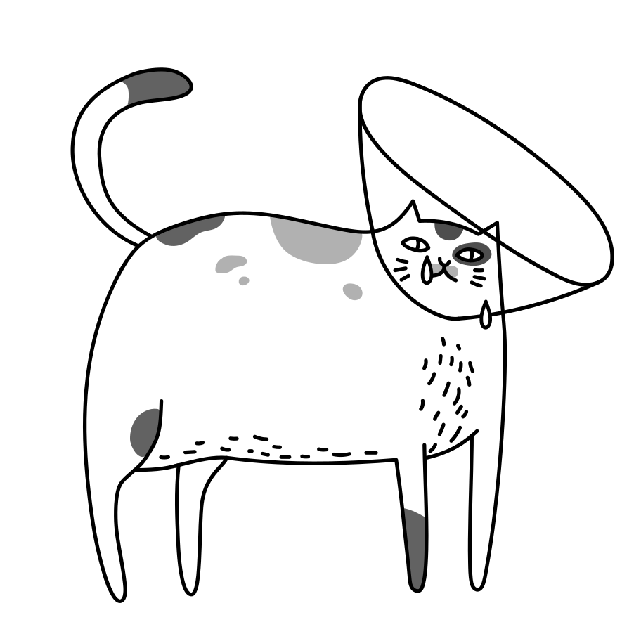style Sick cat Vector images in PNG and SVG | Icons8 Illustrations
