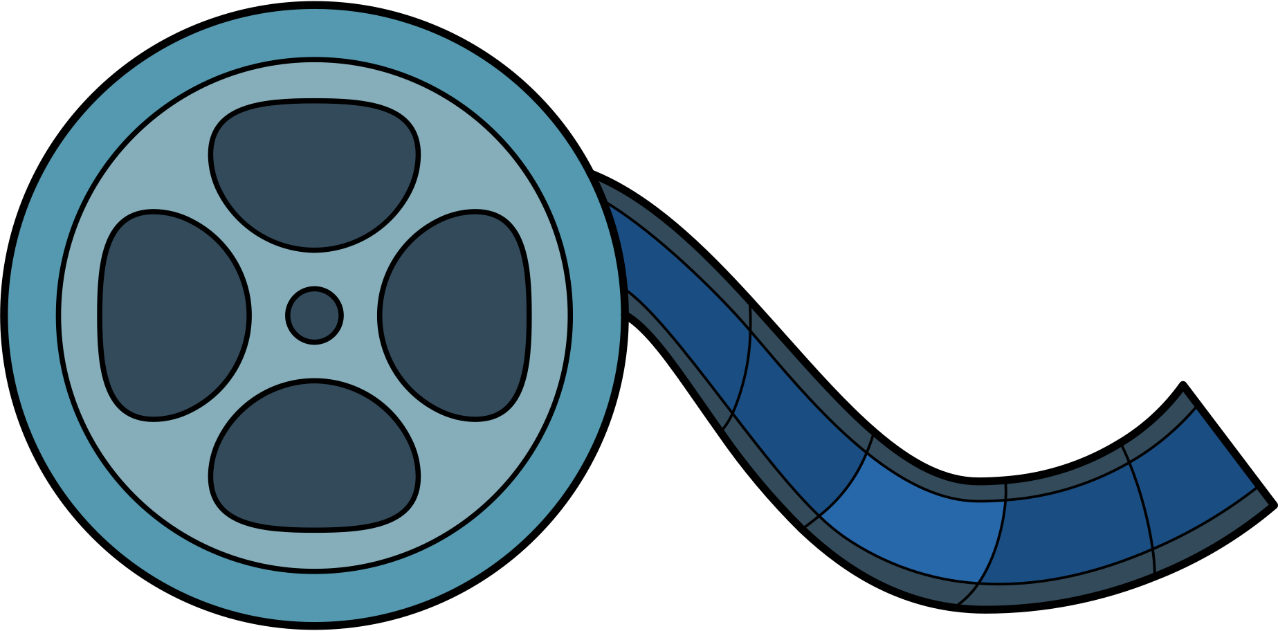 movie film Clipart illustration in PNG, SVG