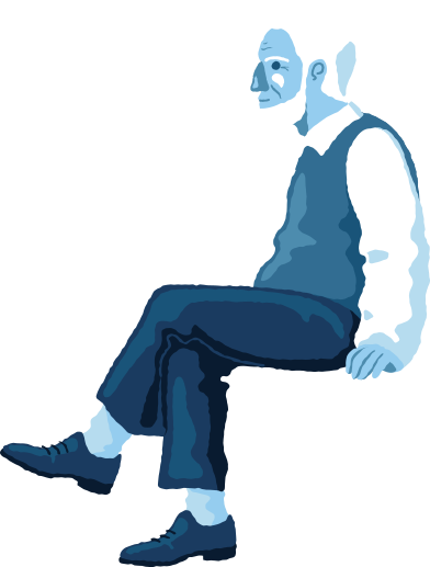 style old man sitting profile images in PNG and SVG | Icons8 Illustrations