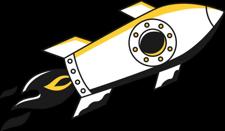 delivery  rocket Clipart illustration in PNG, SVG