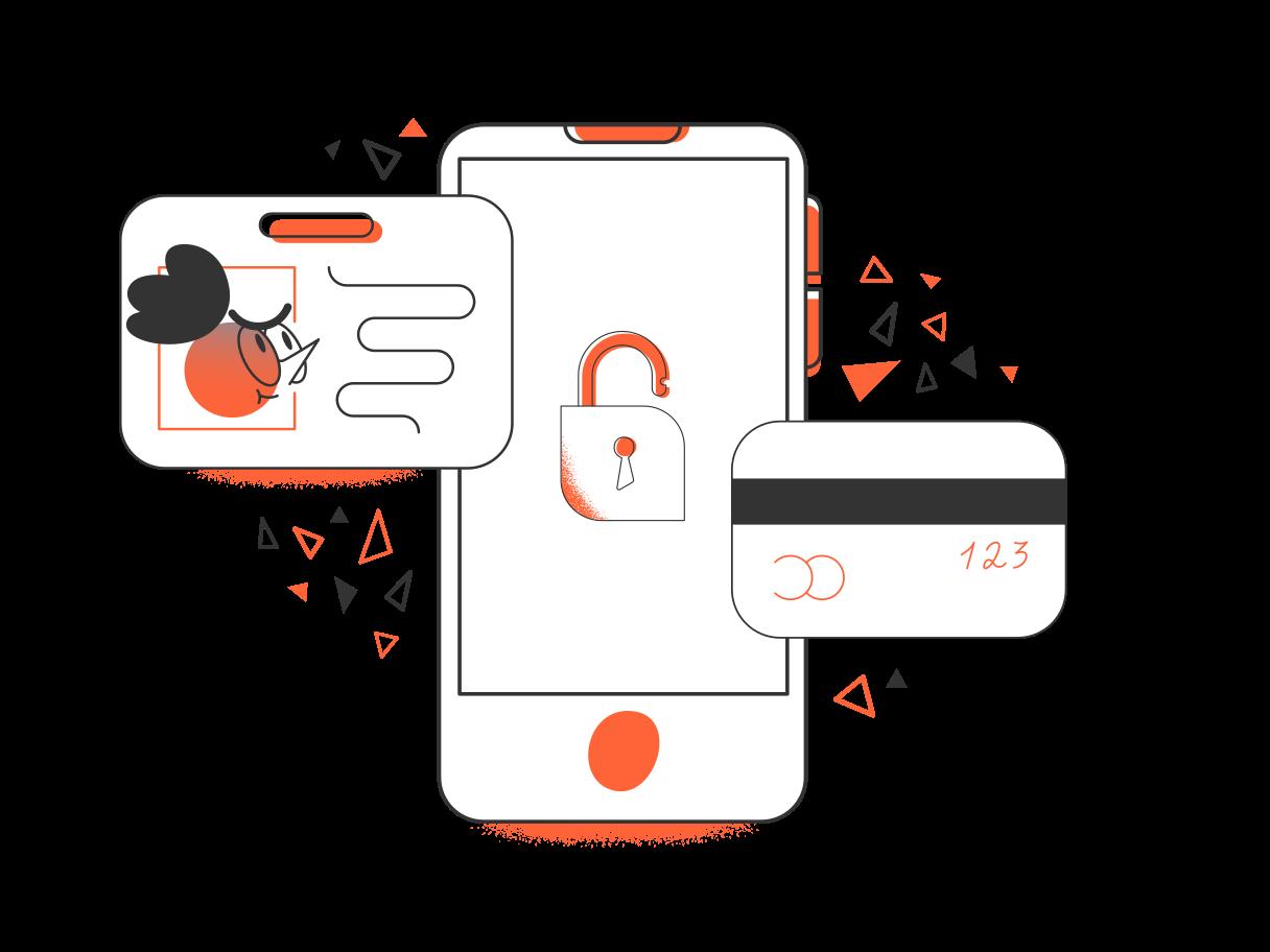 Secure online payment Clipart illustration in PNG, SVG