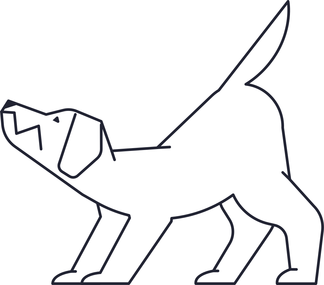 no connection  dog Clipart illustration in PNG, SVG