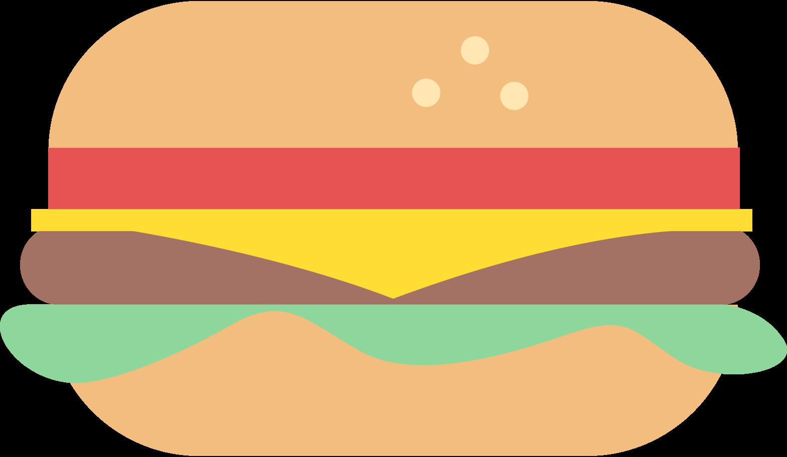 Ilustración de clipart de hamburguesa en PNG, SVG