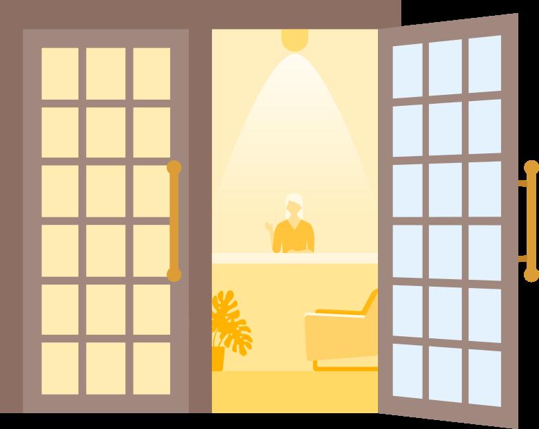 hotel door Clipart illustration in PNG, SVG